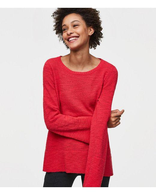 LOFT   Red Flare Sleeve Sweater   Lyst