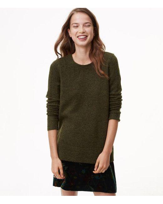 LOFT | Green Relaxed Pointelle Sweater | Lyst