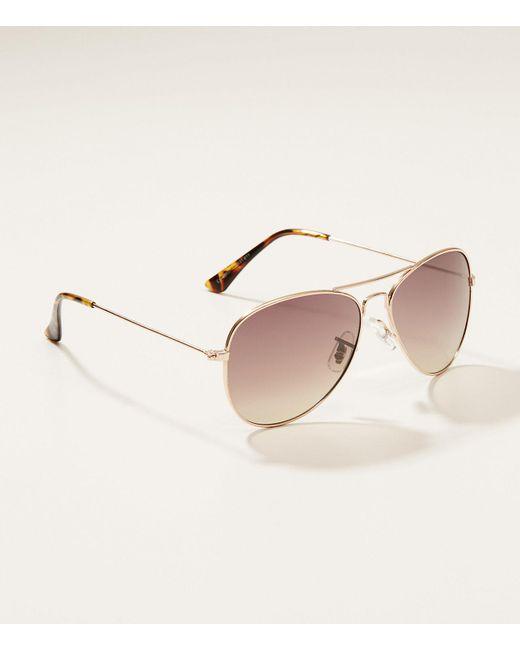 LOFT - Brown Aviator Sunglasses - Lyst