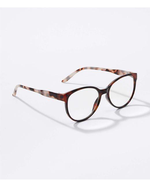 LOFT Brown Cateye Reading Glasses