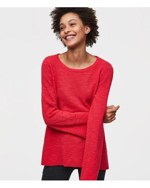 LOFT | Red Flare Sleeve Sweater | Lyst