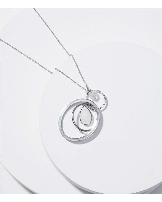 LOFT - Metallic Linked Pendant Necklace - Lyst