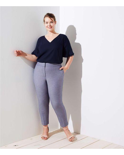 LOFT - Blue Plus Slim Custom Stretch Pencil Pants - Lyst