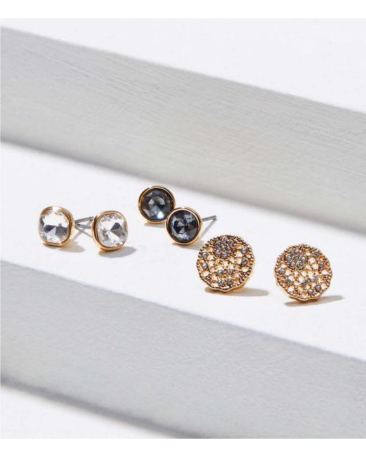 LOFT Metallic Filigree Stud Earrings