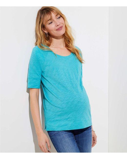 LOFT - Blue Maternity Vintage Soft Sweatshirt Tee - Lyst