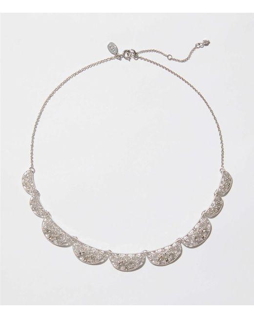 LOFT - Metallic Filigree Statement Necklace - Lyst