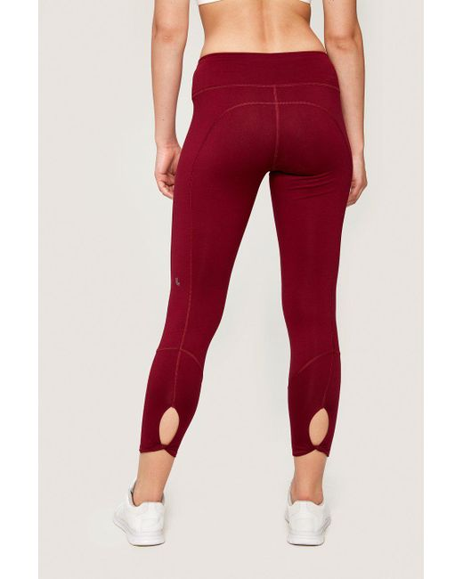 Lolë - Red Eliana Cropped Legging - Lyst
