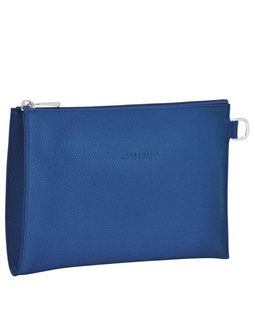 Pochette Le Foulonné Longchamp en coloris Blue