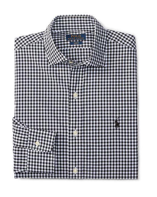 Polo Ralph Lauren | Black Plaid Twill Shirt for Men | Lyst