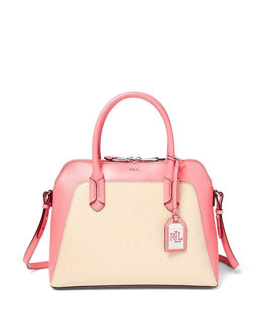 Ralph Lauren Tate Dome Satchel Laukku : Lauren by ralph tate dome satchel in pink straw