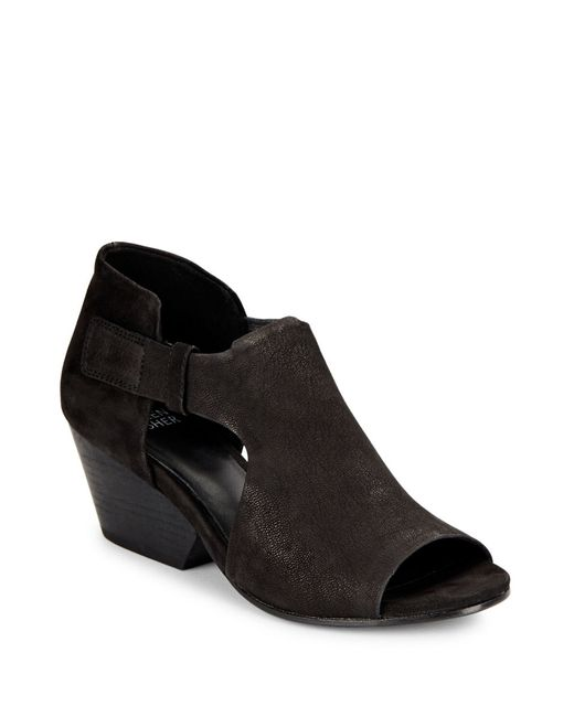Eileen Fisher | Black Iris Suede Ankle Boots | Lyst