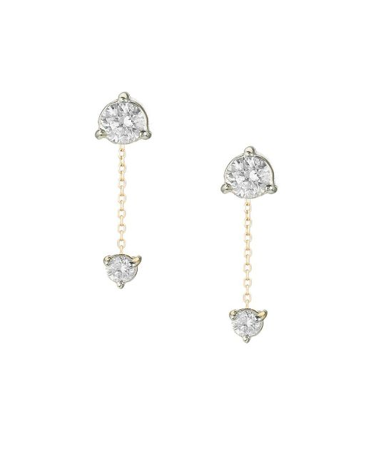 Adina Reyter Metallic 14k Yellow Gold & 0.2 Tcw White Diamond Amigos Chain Drop Earrings