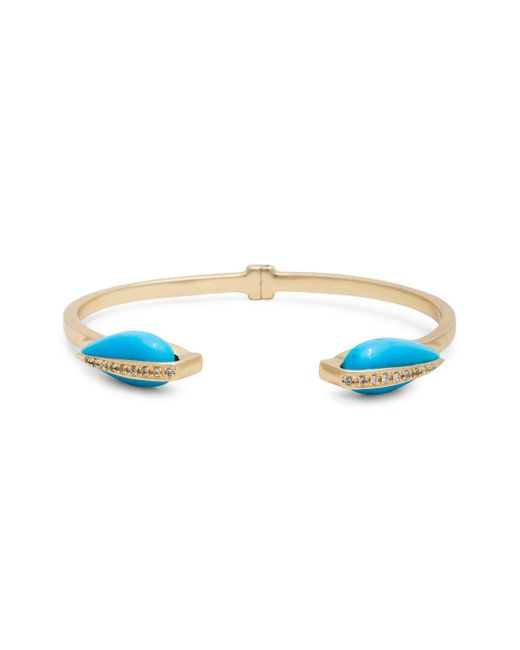 Sole Society Metallic Crystal Cuff Bracelet