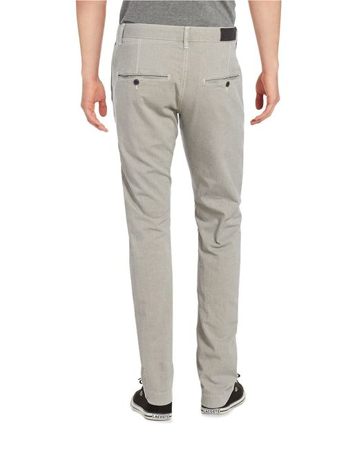 strellson slim fit chinos in gray for men lyst. Black Bedroom Furniture Sets. Home Design Ideas