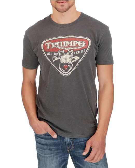 Lucky Brand Triumph Speed Twin T Shirt In Gray For Men