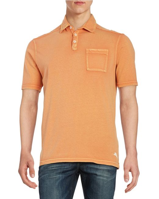 Tommy Bahama Kahuna Pocket Polo In Orange For Men Save