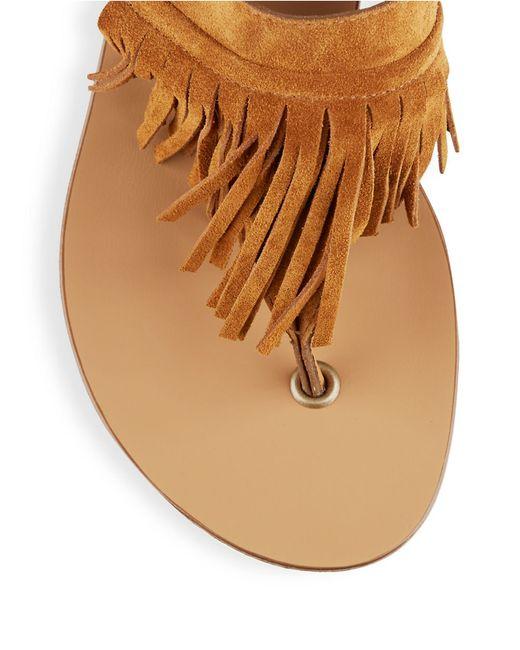 paul green havana suede sandals in brown cognac lyst. Black Bedroom Furniture Sets. Home Design Ideas