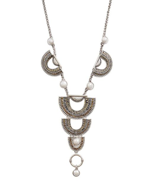 Lucky Brand - Metallic Modern Opulence Two-tone Pave Drama Necklace - Lyst