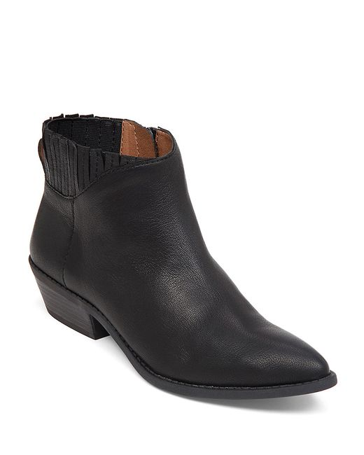 lucky brand jemm leather ankle boots in black save 51