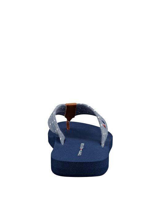 tommy hilfiger carice flip flops in blue lyst. Black Bedroom Furniture Sets. Home Design Ideas