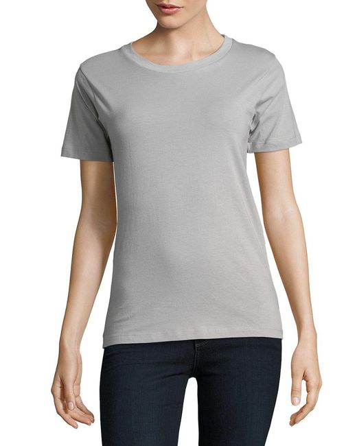 Tylynn Nguyen - Gray Short Sleeve Noble Tee - Lyst