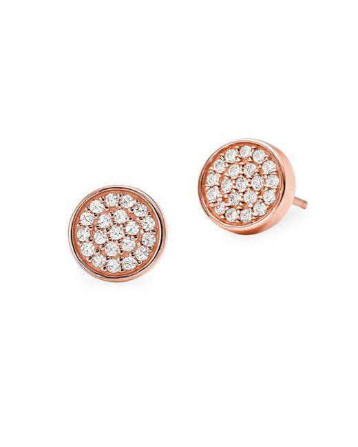 Michael Kors - Metallic Custom Kors Sterling Silver & Crystal Stud Earrings - Lyst