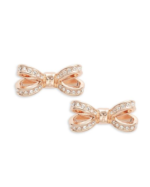 Ted Baker - Metallic Opulent Pave Bow Crystal Olitta Earrings - Lyst