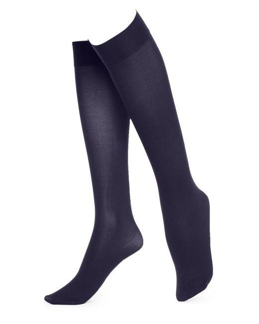Hue   Blue Soft Opaque Knee High Socks   Lyst