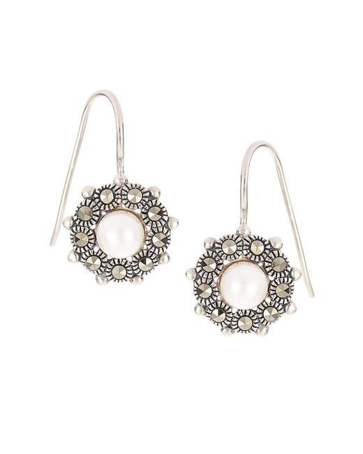 Lord & Taylor | Metallic Faux Pearl Accented Earrings | Lyst
