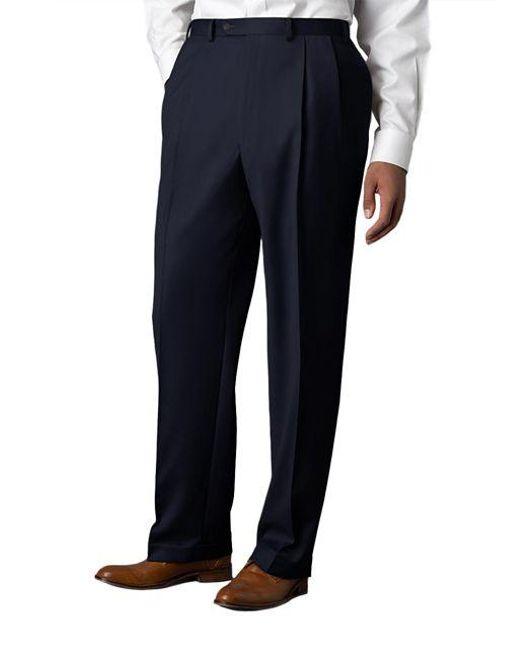 Lauren by Ralph Lauren | Blue Wool-cashmere-blend Cuffed Pants for Men | Lyst