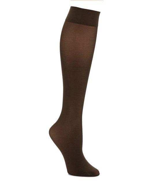 Hue | Brown Revitalizing Opaque Knee Hi Socks | Lyst