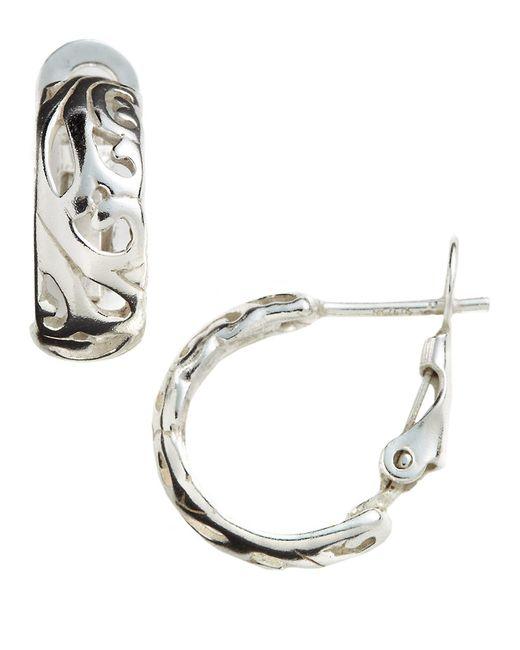 Lord & Taylor | Metallic Filigree Cuff Hoop Earrings | Lyst