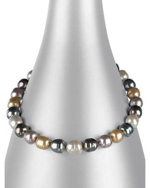 Majorica | Metallic Multi-colored Baroque Organic Man-made Pearl Necklace | Lyst