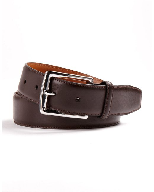 Lauren by Ralph Lauren | Brown Leather Dress Belt for Men | Lyst