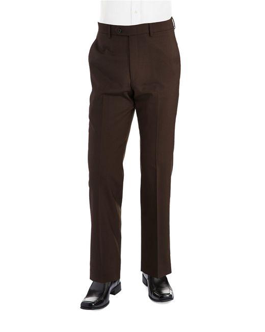 Lauren by Ralph Lauren   Brown Classic Fit Mid-weight Flat-front Wool Trouser Pants for Men   Lyst