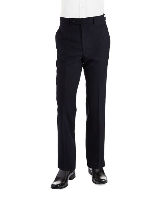 Lauren by Ralph Lauren | Blue Classic Fit Mid-weight Flat-front Wool Trouser Pants for Men | Lyst