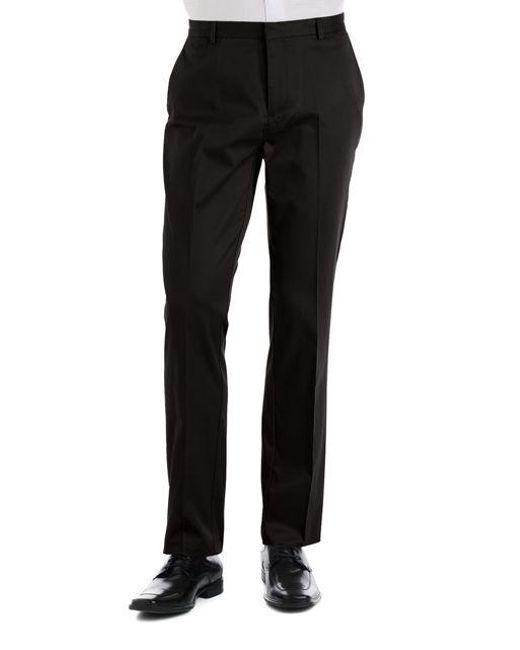 Calvin Klein   Black Slim Fit Flat Front Pants for Men   Lyst