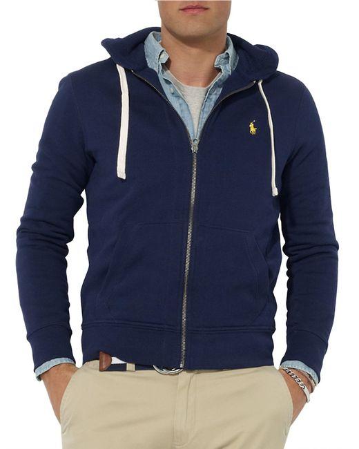 Polo Ralph Lauren   Blue Full-zip Fleece Hoodie for Men   Lyst