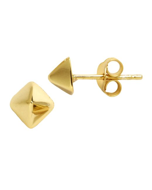 Lord & Taylor | Metallic 18k Gold Over Sterling Silver Pyramid Stud Earrings | Lyst