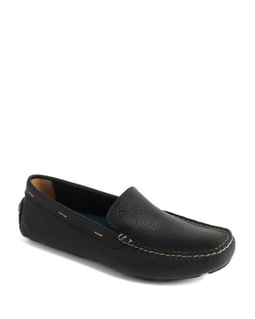 Tommy Bahama | Black Pagota Leather Driving Moccasins for Men | Lyst