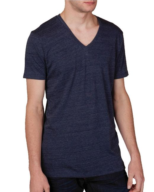 Alternative Apparel | Blue Boss V-neck Tee for Men | Lyst
