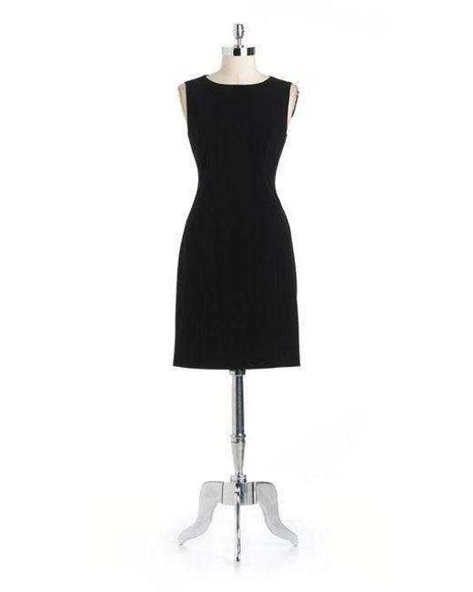 T Tahari | Black Cali Sheath Dress | Lyst