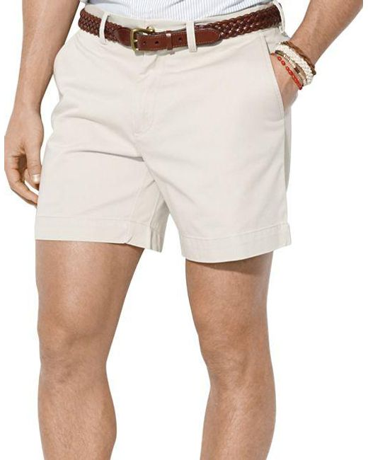 Polo Ralph Lauren | Natural Classic-fit Flat-front Chino Shorts for Men | Lyst