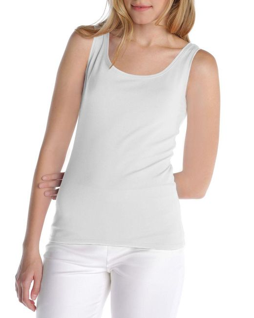 NIC+ZOE | White Perfect Stretch Tank | Lyst