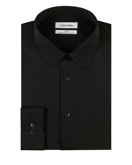 Calvin Klein | Black Slim Fit Dress Shirt for Men | Lyst