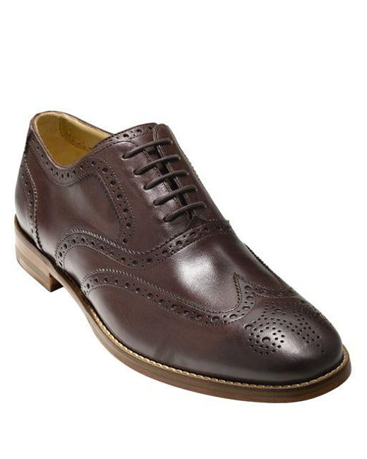 Cole Haan | Brown Cambridge Leather Wingtip Oxfords for Men | Lyst