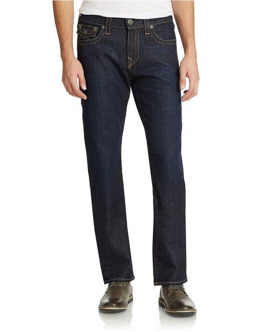 True Religion | Blue Ricky Straight-leg Jeans for Men | Lyst