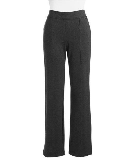 Calvin Klein   Black Powerstretch Straight-leg Pants   Lyst