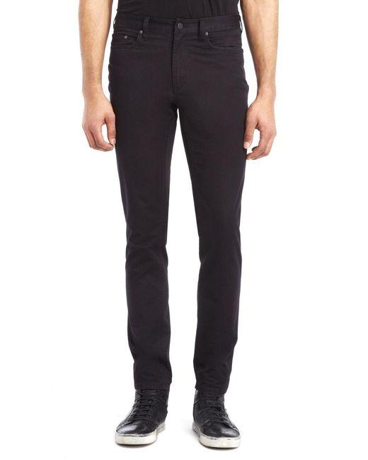 Kenneth Cole | Black Slim Fit Sateen Pants for Men | Lyst