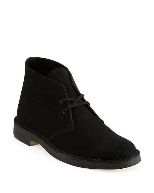 Clarks | Black Bushacre Suede Chukka Boot for Men | Lyst